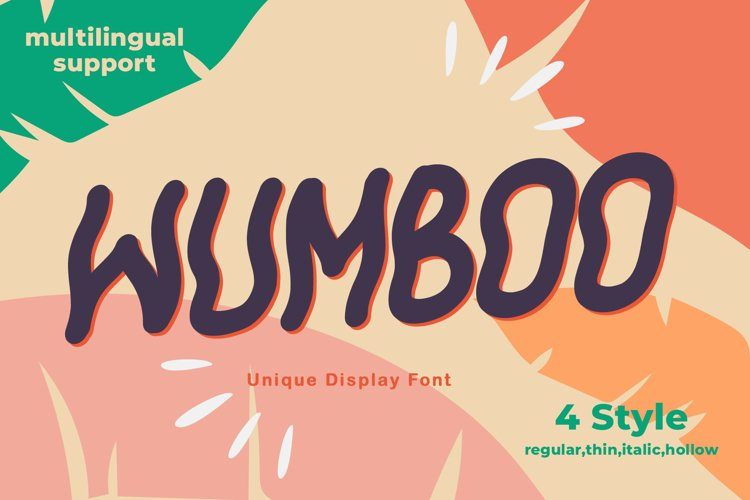 Wumboo Unique Display Font example image 1