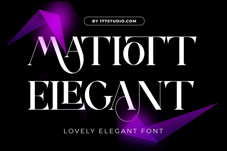 MATIOTT ELEGANT FONT example image 1