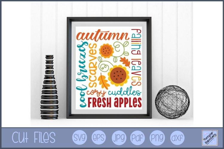 Autumn Subway Art   Fall Subway Art - SVG, Clipart, Graphic
