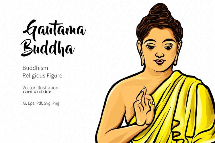 Gautama Buddha Vector Illustration example image 1