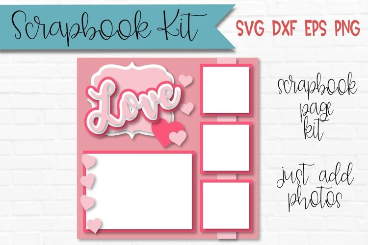 Love Valentines Day Scrapbook Page Kit example image 1
