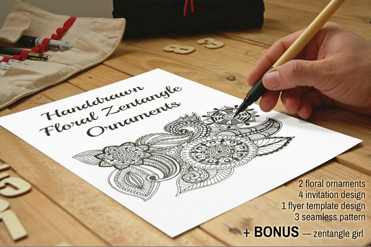 Floral Zentangle example image 1