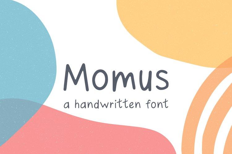 Momus // A Handwritten Font