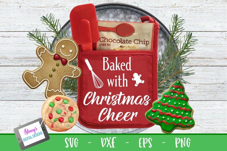 Christmas Pot Holder SVG - Baked with Christmas Cheer