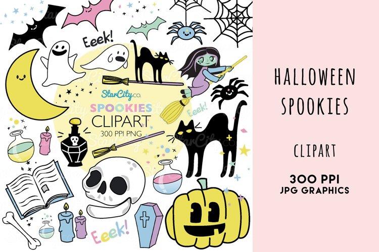 Halloween Clipart, Spookies Pastel Halloween Clip art