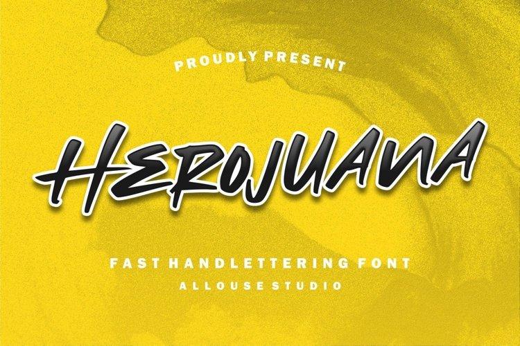 Web Font - Herojuana example image 1