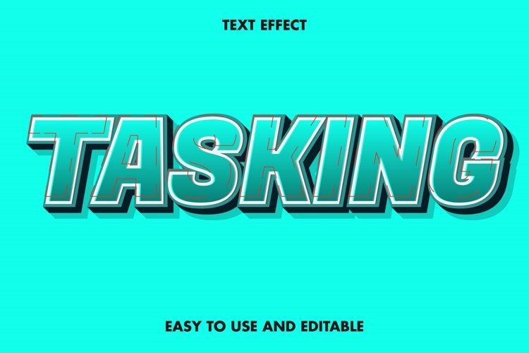 Tasking text effect. editable and easy to use. example image 1