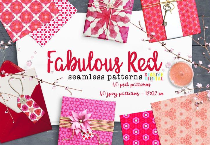 Fabulous Red Seamless Patterns