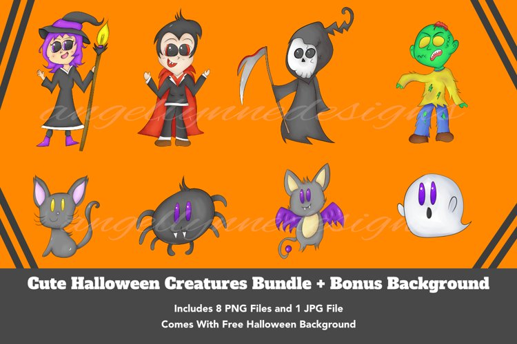 Halloween Illustration | Cute Halloween Characters | Witch example image 1