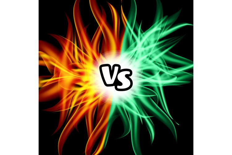Versus Vector. VS Letters. Flame Fight Background Design. example image 1