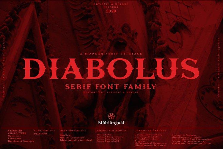 Diabolus - Serif Font Family - Multilingual example image 1