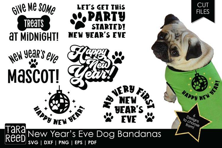 New Years Eve Dog Bandanas Dog Bandanas - SVG & Cut Files
