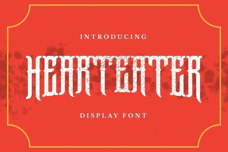 Web Font Hearteater Font example image 1