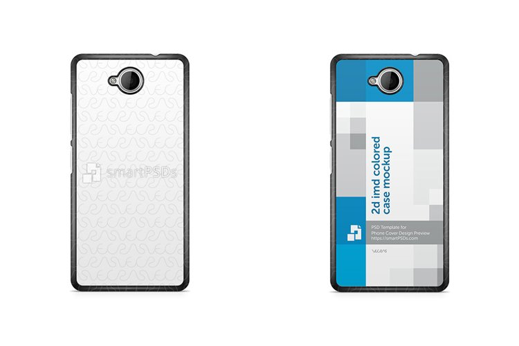 Microsoft Lumia 650 2d IMD Colored Mobile Case Mockup 2016 example image 1
