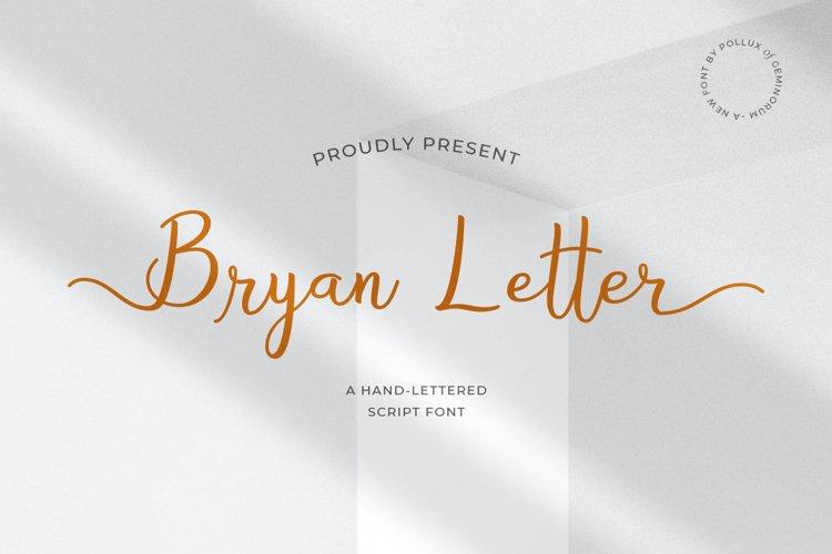 Bryan Letter - Hand-Lettered Script Font example image 1