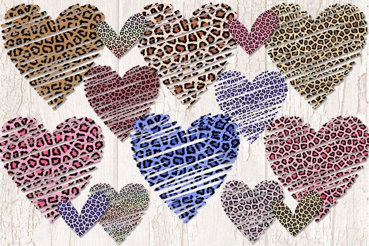 Leopard Print Hearts Clipart