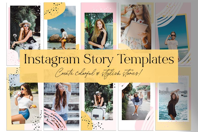 Pink & Yellow Instagram Story Templates example image 1