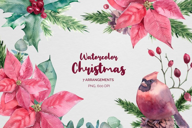 Christmas Watercolor compositions example image 1
