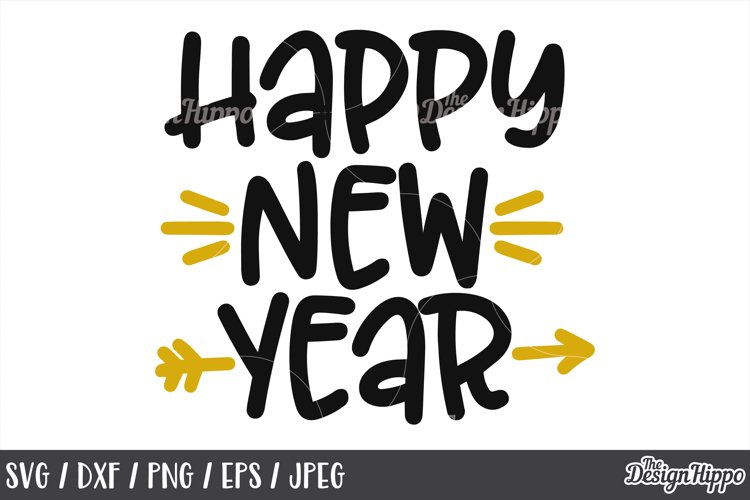 Happy New Year, 2019, SVG DXF EPS PNG, Cricut, Cutting Files example image 1