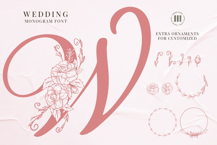 Wedding Monogram Font