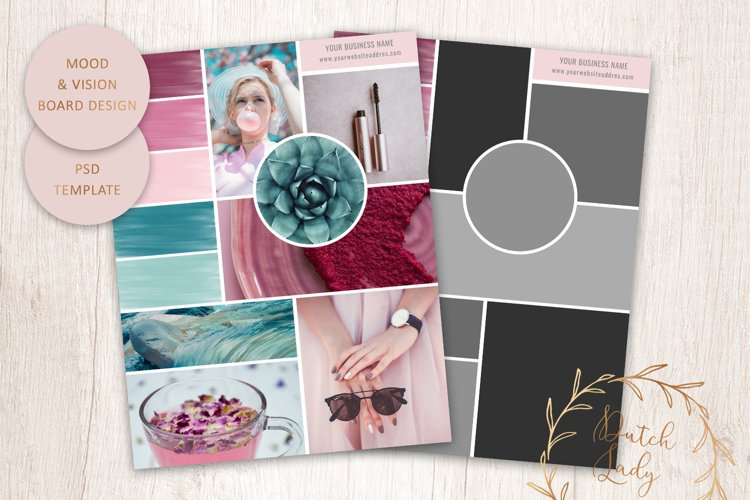 PSD Mood & Vision Board - Adobe Photoshop Template - #1 example image 1