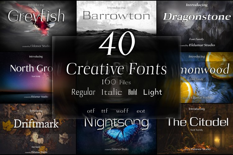 40 Creative Fonts