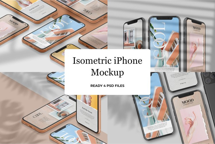 Isometric iPhone Mockup v1 example image 1