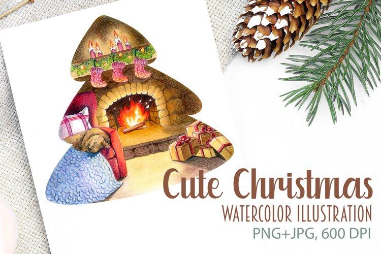 Watercolor Cute Christmas