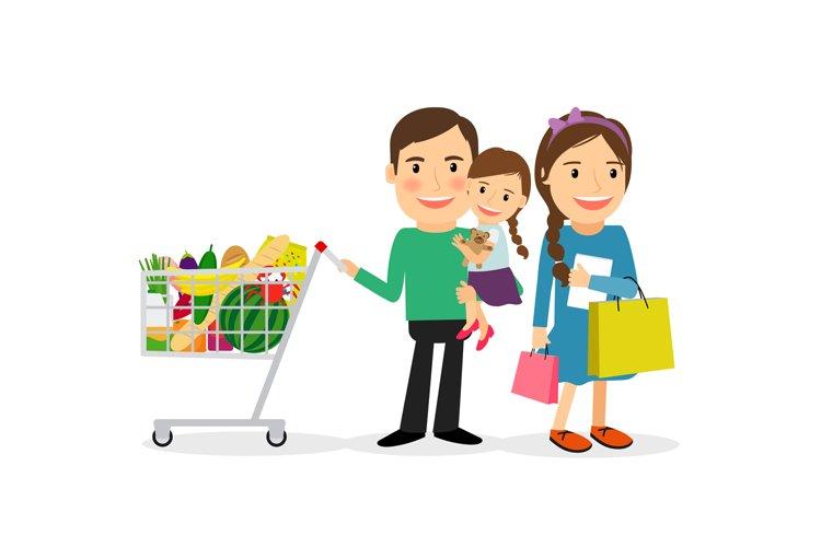 Happy family shopping example image 1
