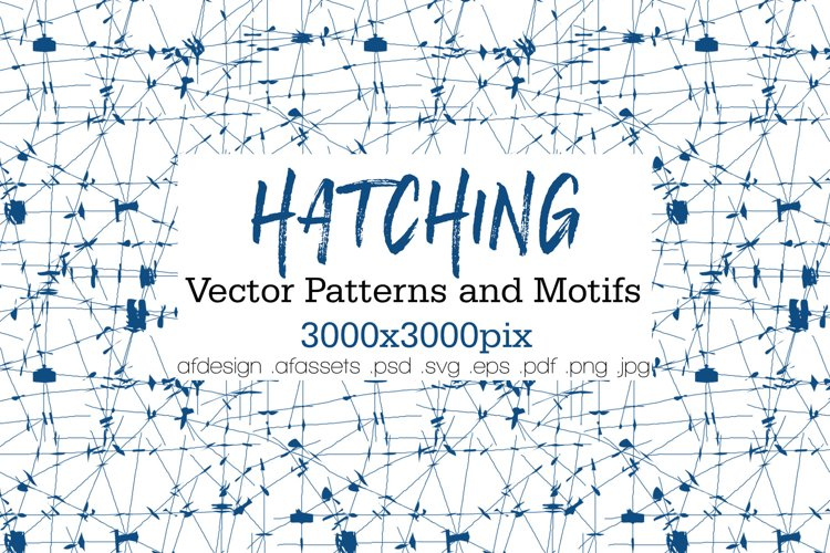 HATCHING - Vector Patterns and Motifs example image 1