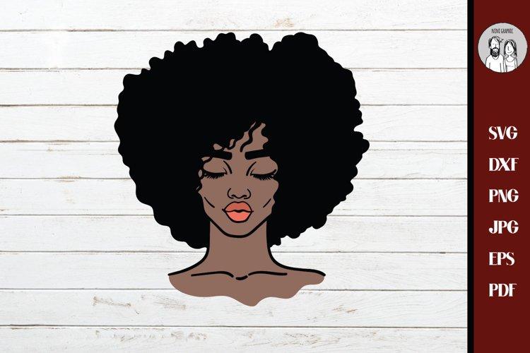 Black woman svg, African american svg cut file