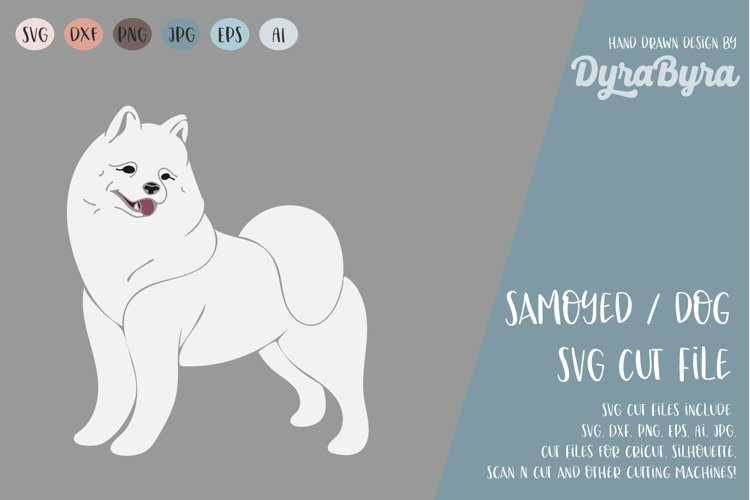 Dog SVG / Polar Mist SVG / Samoyed SVG Vector File example image 1