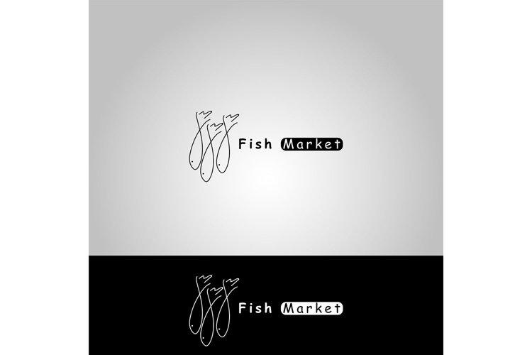 vector icon fish market example image 1