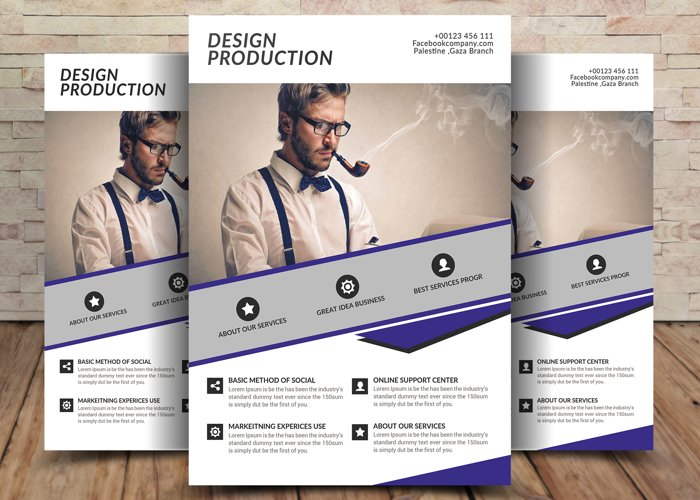 Design Production Flyer example image 1