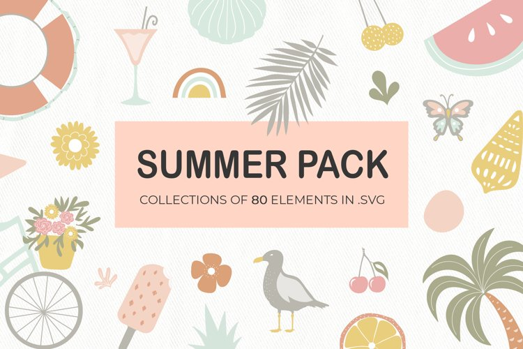 Summer elements pack | Canva-friendly example image 1