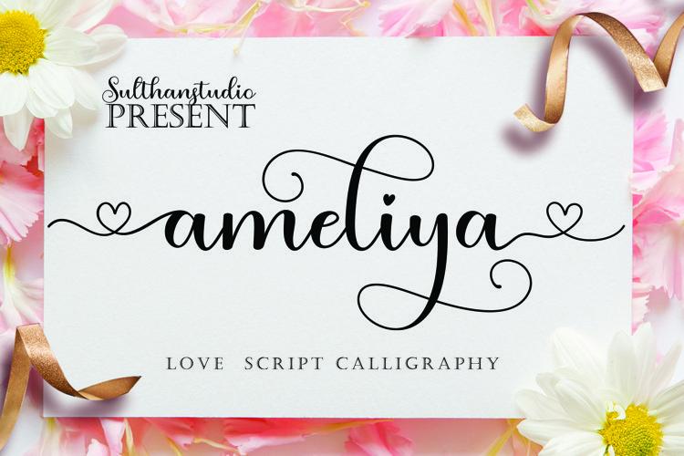 Ameliya script example image 1