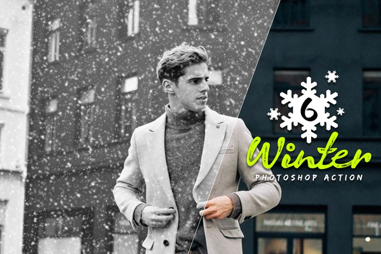 6 Winter Photoshop Action example image 1