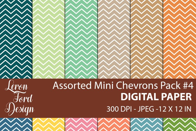 Assorted Mini Chevrons Pack #4 Digital Paper example image 1