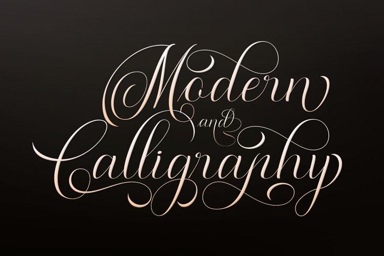 Moderena Script    3 Style