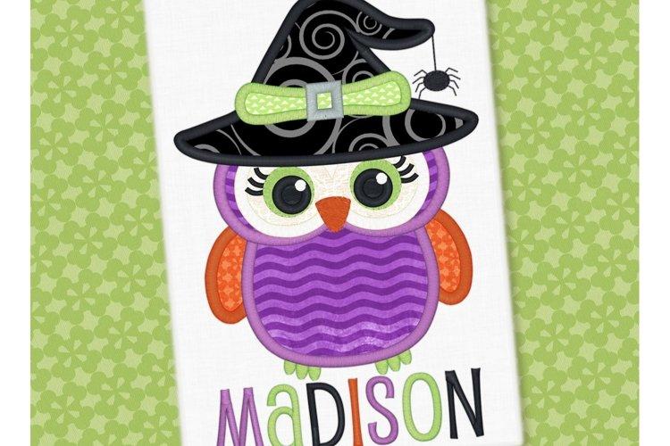 Halloween Owl Applique Design 1299