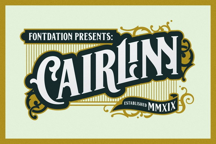 Cairlinn   Vintage Font example image 1