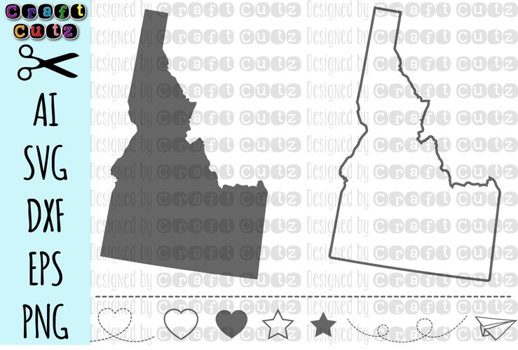 IDAHO svg, State svg Files, Idaho Vector, United States svg, State Clip Art, Idaho Cut File, Idaho State Outline example image 1