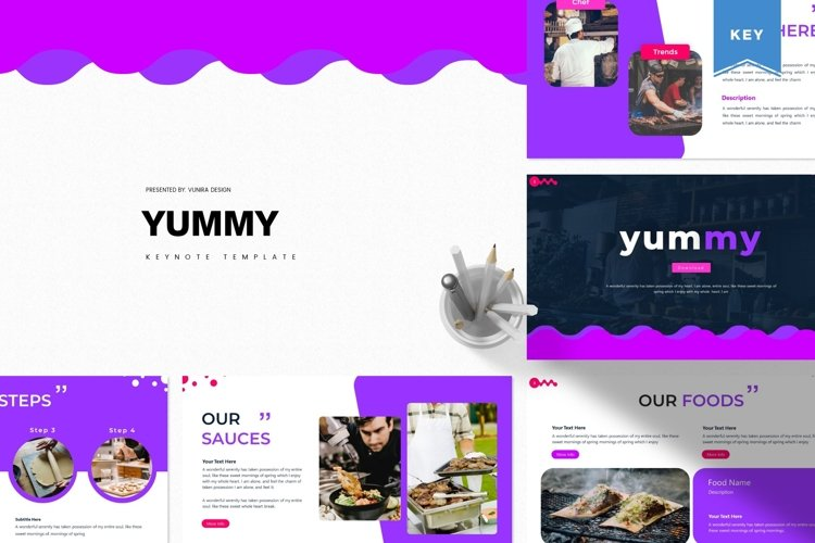 Yummy | Powerpoint, Keynote, Google Slides Template example image 1