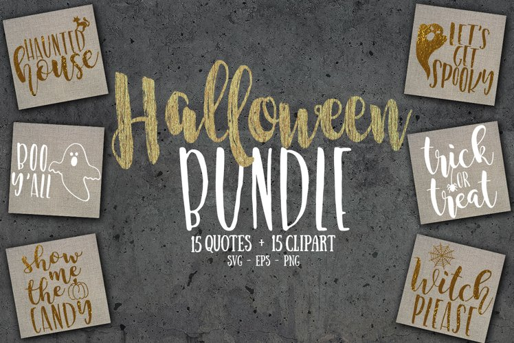 Halloween SVG bundle, PNG & EPS example image 1