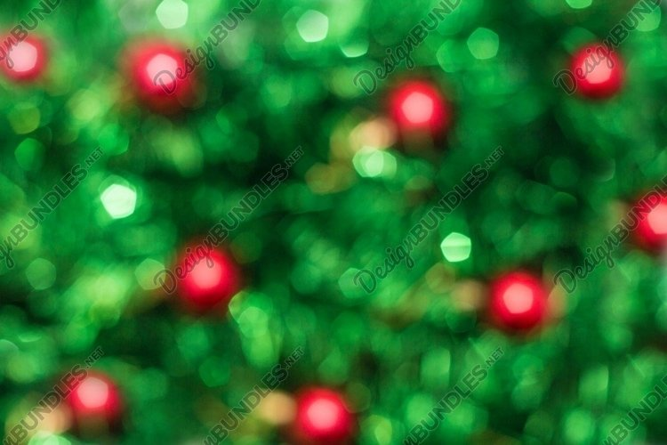 Defocused abstract green background with red. example image 1