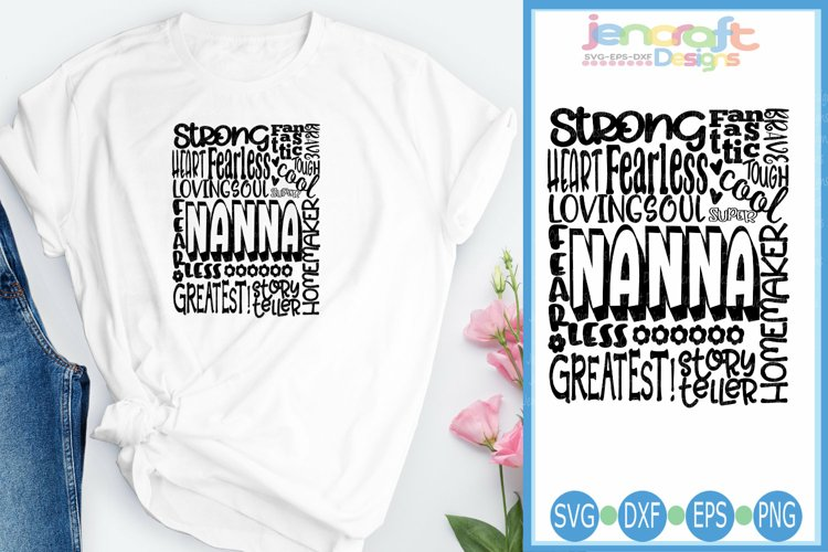 Nanna SVG, Mothers Day SVG, typography word art Svg, Eps,