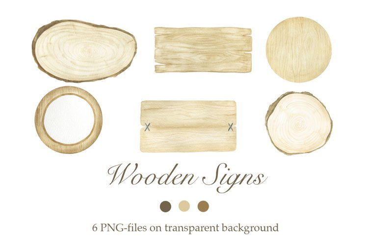Watercolor Wooden Signs example image 1
