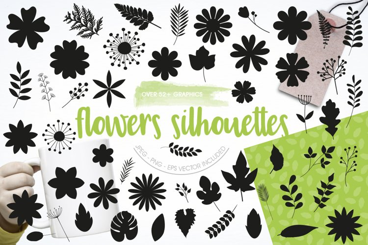 Flower silhouettes Graphics and illustrations, vecto example image 1
