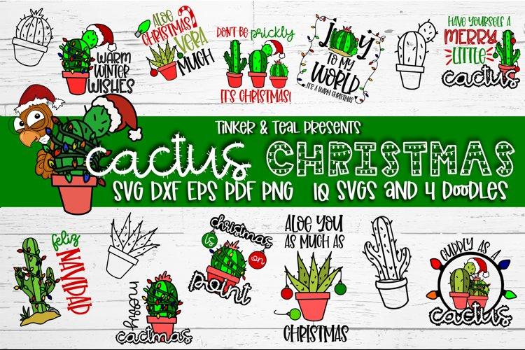 Cactus Christmas SVG Bundle example image 1