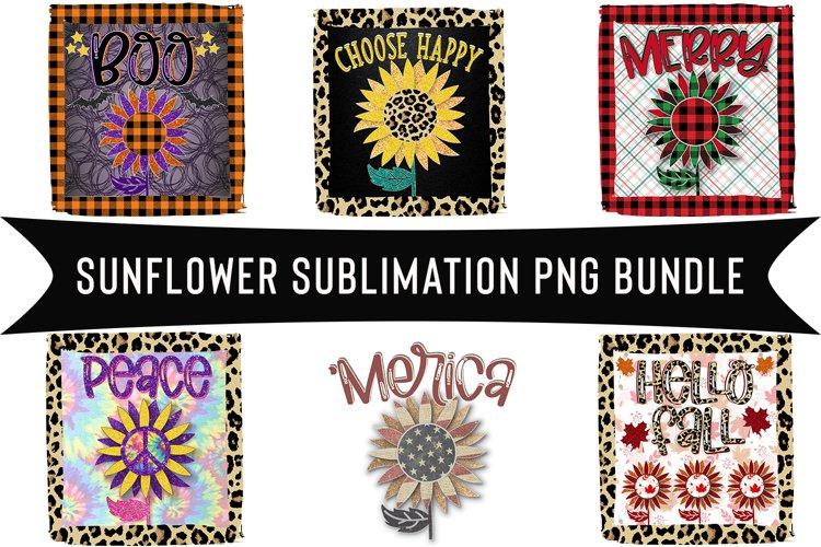 Sunflower Designs png Sublimation Bundle, 6 Sunflower png